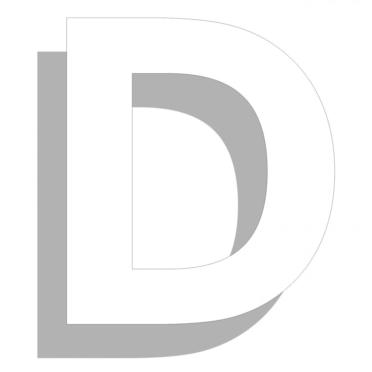 Aluverbund-Fräsbuchstaben, weiß, 3mm stark