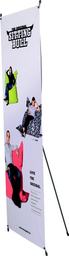 X-Banner Alu, 80cm x 200cm, bedruckt