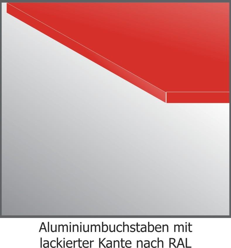 Aluminium-Fräsbuchstaben, 2mm stark