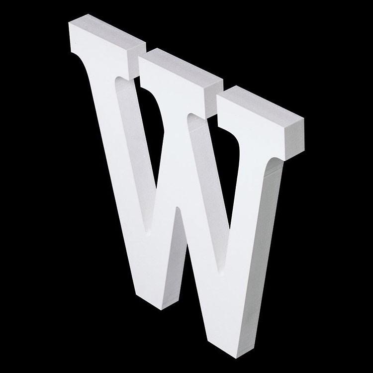 PVC-Hartschaum-Fräsbuchstaben, 10mm stark
