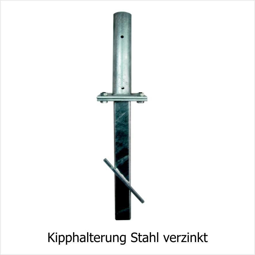 Kipphalterung für Fahnenmasten Stahl verzinkt