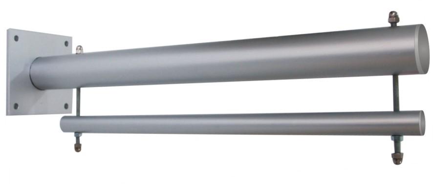 Wallout Wandhalterung Aluminium mit Werbebanner 510gr/qm