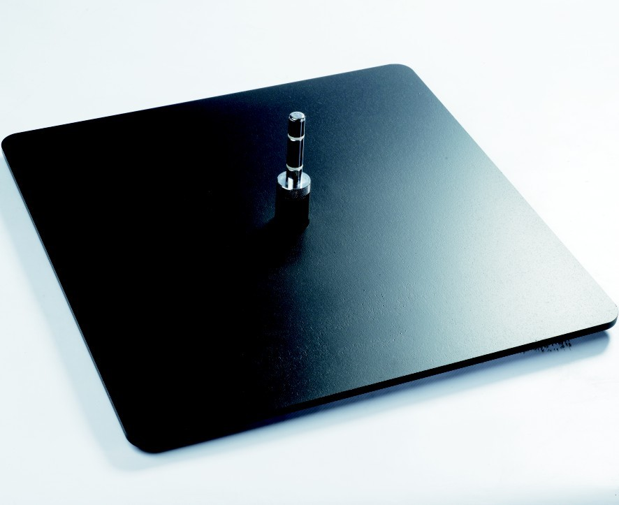 Bodenplatte, Stahl, schwarz, ca. 15 kg